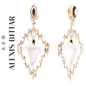 Alexis Bittar Navette Crystal Spike Frame Earrings